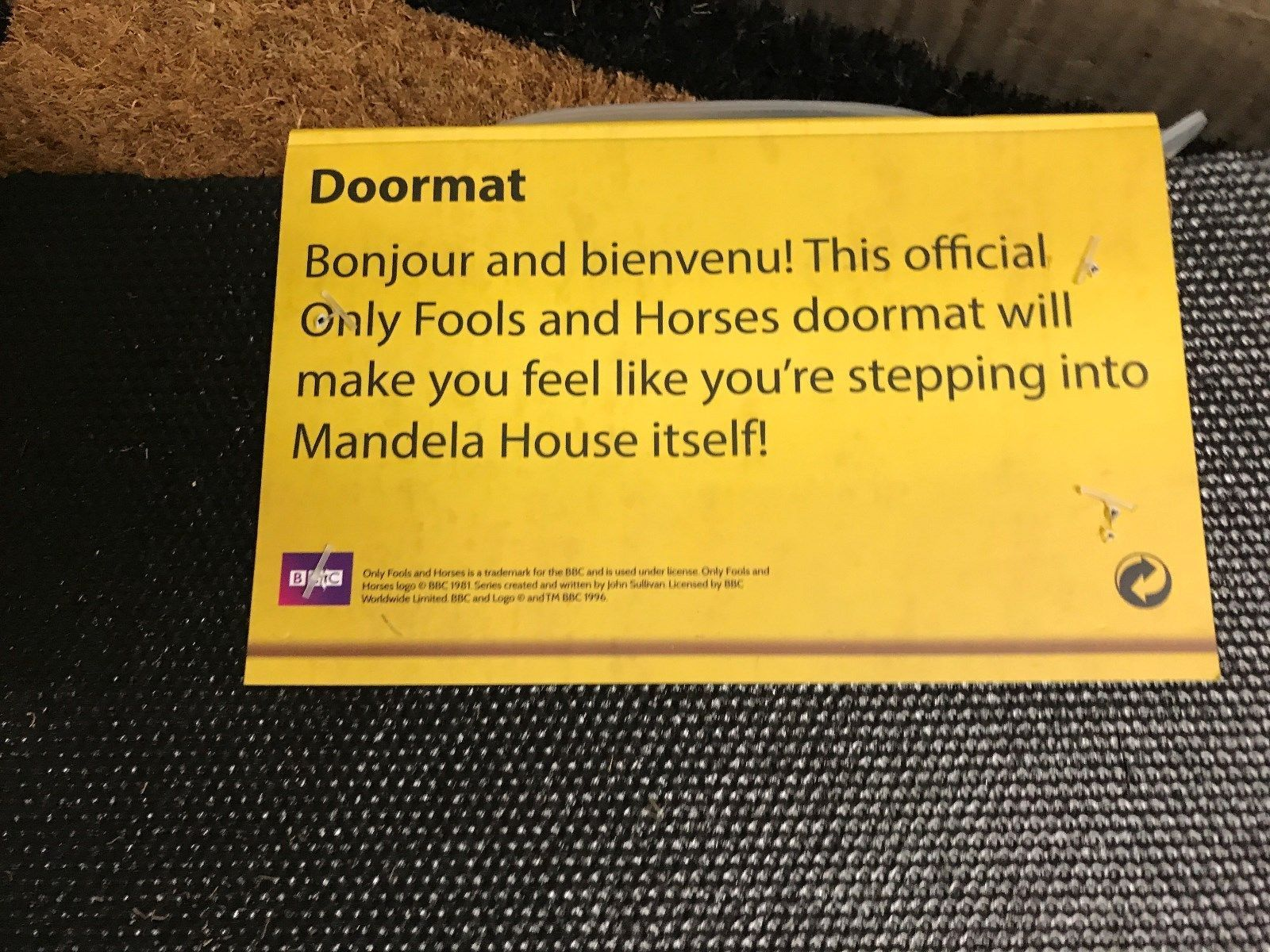 Only Fools And Horses Official Bonjour Doormat The