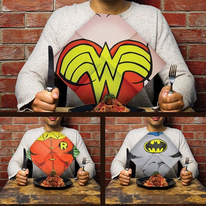 DC comics dress up napkins - tv and film stuff