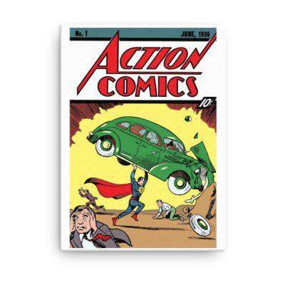 retro geek gifts superman canvas
