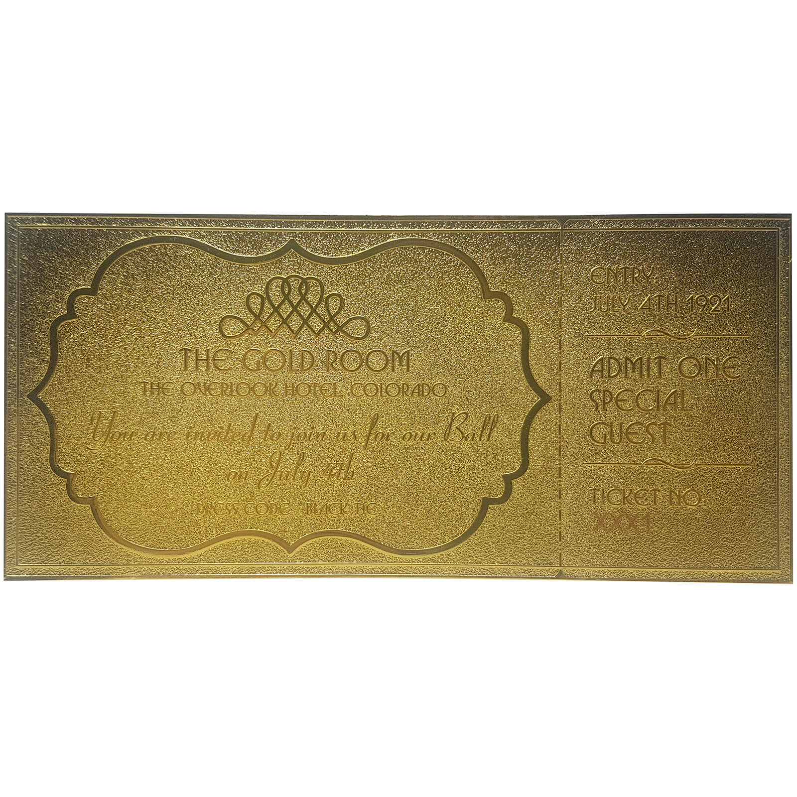 The shining ballroom ticket