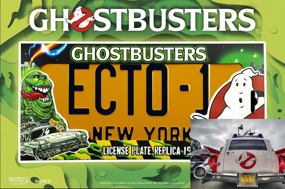 Ghostbusters Licence Plate Replica Ecto 1